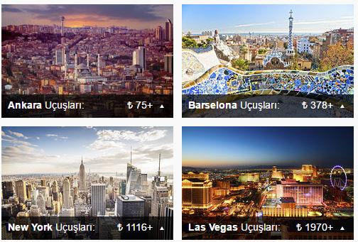 Kayak, skyscanner, expedia ucuz uçak bileti